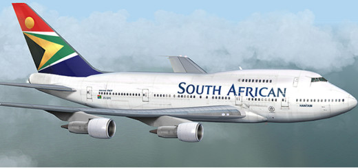South African Airways plane.