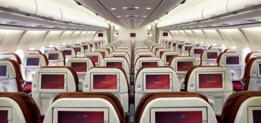 Inside Arik Air plane.