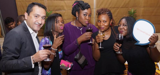 L-R: Marketing Head, Sheraton Abuja Hotel, Maya Mshelia; Area Comms. Mganager, Starwood Hotels in Nigeria, Nanji Tyem; Top bloggers, Ibironke Arowosola and Joy Baiye during Sheraton Paired in Abuja recently.