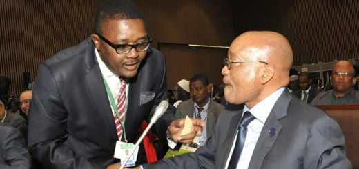 Walter  Mzembi with Jacob Zuma, President of South Africa.