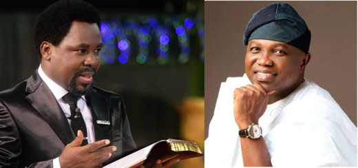 TB Joshua, Founder Synagogue Church of All Nations and Akinwunmi Ambode, Governor, Lagos State, Nigeria.