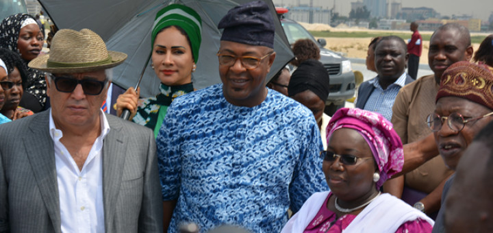 Ronald Chagoury, Executive Chairman, Eko Atlantic City, Sally Mbanefo, Director General, Nigerian Tourism Development Corporation [NTDC] Folarin Coker, Lagos State Commissioner for Tourism, Arts and Culture. Idiat Oluranti Adebule, Deputy Governor, Lagos State and Lai Mohammed, Minister of Information and Culture.