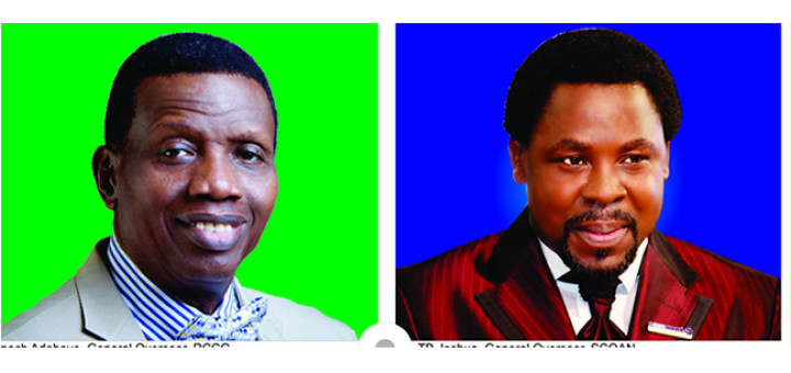Pastor Enoch Adeboye, General Overseer, Redeemed Christian Church of God and Prophet T.B Joshua, Synagogue Church of All Nations.