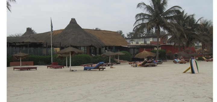 Beach front in Gambia.