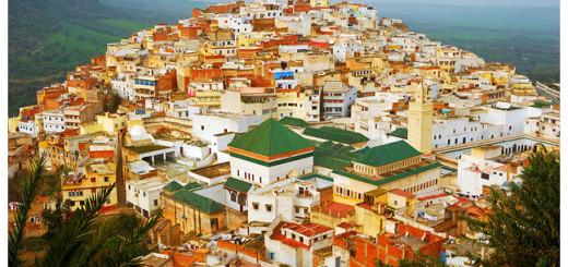 Morocco Meknes-Moulay Idriss Panorama.
