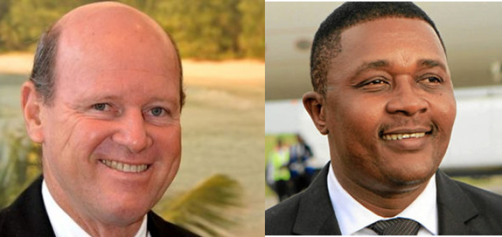 Alain St Ange and Walter Mzembi, two African candidates for-Secretary General of-UNWTO.