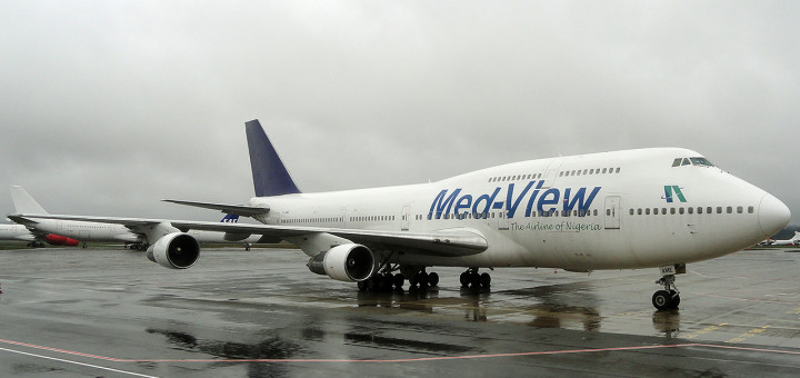 Medview Airlines plane.