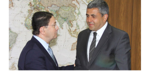 Taleb Rifai with  in-coming UNWTO Secretary General, Zurab Pololikashvili.