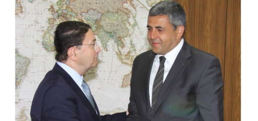 L - R: Taleb Rafai out-going with Zurab Pololikashvili, in coming UNWTO Secretary General.